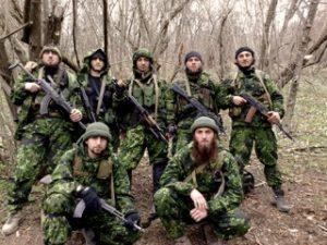 Urcas con soldados chechenos